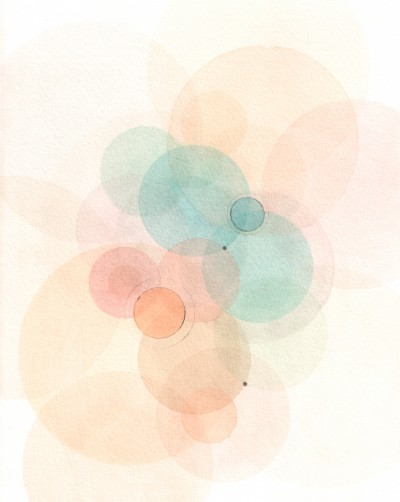 """Emodata 131 8"""" x 10""""  Watercolor on paper 2013"""