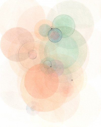 """Emodata 132 8"""" x 10""""  Watercolor on paper 2013"""
