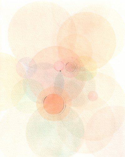 """Emodata 135 8"""" x 10""""  Watercolor on paper 2013"""