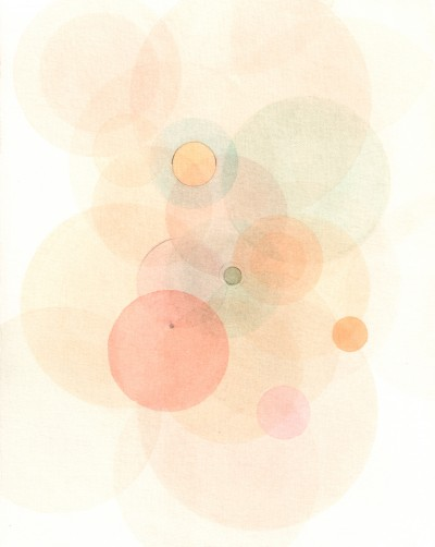 """Emodata 136 8"""" x 10""""  Watercolor on paper 2013"""