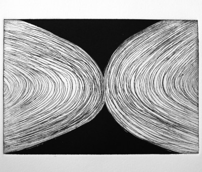 "Half Circles Etching 11"" x 15"" 2012"
