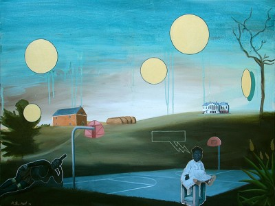 "Basketball Diaries Oil on canvas 30"" x 40"" 2010"