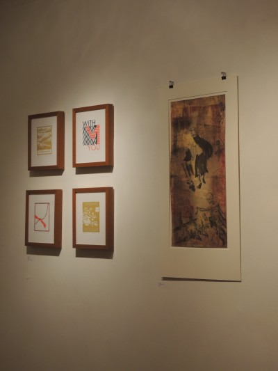 Prints by Rachel Kroh & Peach Tao (left)